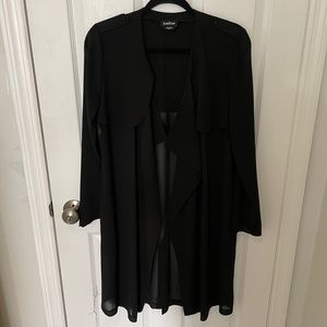 Bebe transparent light weight trench overcoat M